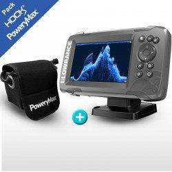 Pack Lowrance HOOK2-5x GPS SplitShot + PoweryMax PX5
