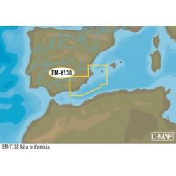Cartografia C-MAP MAX-N+ EW-Y138 LOCAL ADRA TO VALENCIA