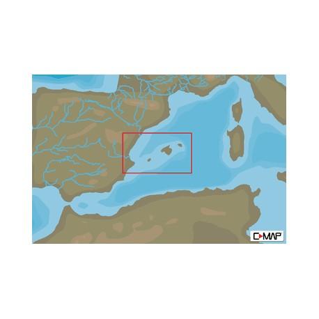 Cartografía C-MAP MAX-N+ EM-Y139 Alicante To C.Tortosa &Balearic I
