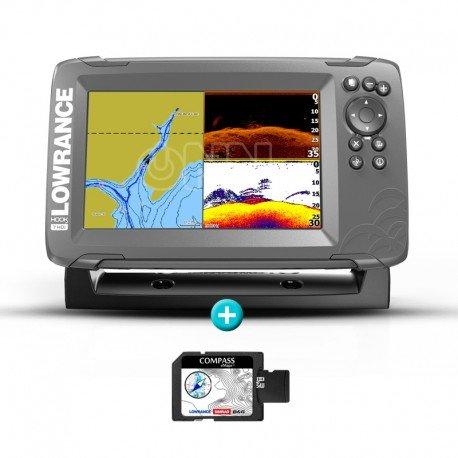 Sonda GPS Plotter Lowrance HOOK2-7 SplitShot