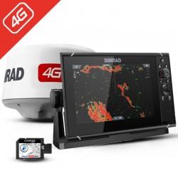 Pack Radar Simrad 4G + Sonda GPS Plotter Simrad NSS9 evo3