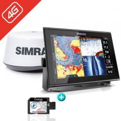 PACK RADAR Sonda GPS Plotter Simrad GO12 XSE + 4G