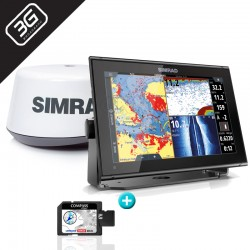 PACK RADAR Sonda GPS Plotter Simrad GO9 XSE + 3G