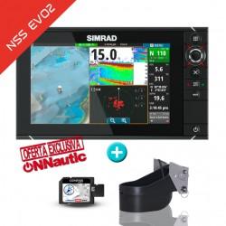 Sonda GPS Plotter Simrad NSS9 EVO2 + Airmar CHIRP 1kw TM185H-W