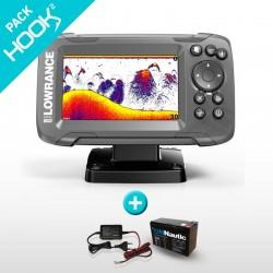 Pack Sonda GPS Plotter Lowrance HOOK2 4x Bateria