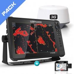 Pack Radar Sonda GPS Plotter Lowrance HDS-12 Live + Lowrance 3G