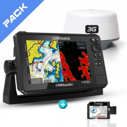 Pack Radar Sonda GPS Plotter Lowrance HDS-9 Live + Lowrance 3G