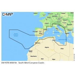 Cartografia C-MAP MAX-N+ WIDE South-West European Coasts