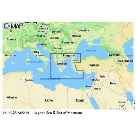 Cartografía C-MAP MAX-N+ EM-Y129 Aegean Sea and Sea of Marmara