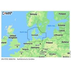 Cartografía C-MAP MAX-N + EN-Y331 Karsklona to Emden