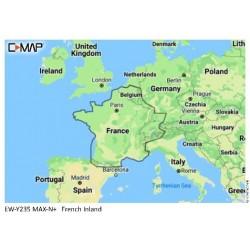 Cartografia C-Map MAX-N+ Local EW-Y235-MS French Inland