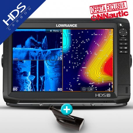 Sonda GPS Plotter LOWRANCE HDS-12 Carbon Mid/High CHIRP + DownScan