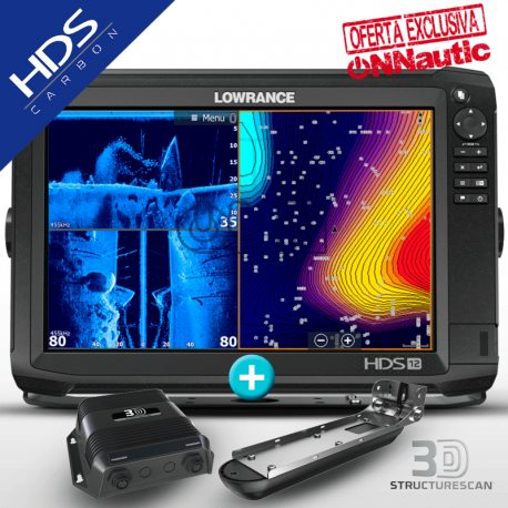Lowrance HDS 12 Carbon con Transductor StructureScan 3D®