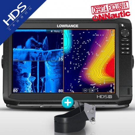 Sonda GPS Plotter LOWRANCE HDS-12 Carbon + Airmar TM185H-W