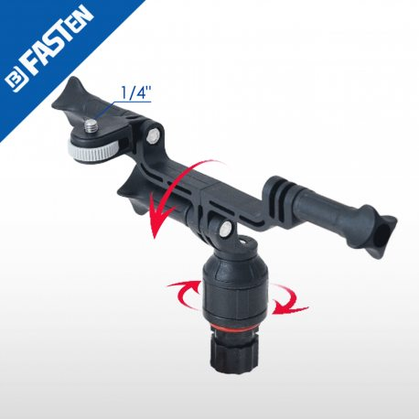 Soporte BORIKA Fasten NG001G GRIS doble cámara