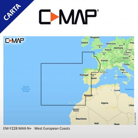 Cartografia C-MAP MAX-N+ EW-Y 228 WIDE West European Coasts