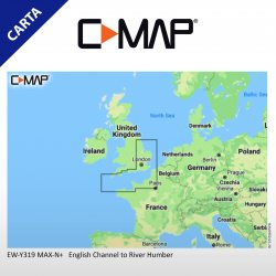 Cartografia C-Map MAX-N+ Local EW-Y319-MS English Channel to River Humber