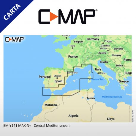 Cartografía C-MAP MAX-N+ Local EM-Y141 Central Mediterranean