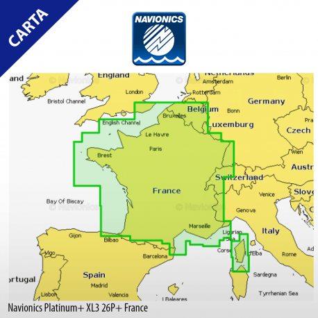 Cartografía Navionics Platinum+ XL3 France