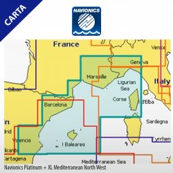 Cartografía Navionics Platinum+ XL Mediterranean North West