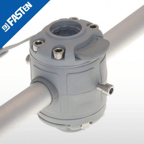 Base BORIKA Fasten DOBLE FMR225G GRIS para tubo 22-25mm