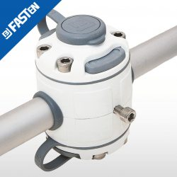 Base BORIKA Fasten DOBLE FMR225W BLANCO para tubo 22-25mm