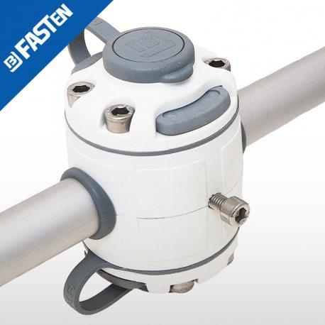 Base BORIKA Fasten DOBLE FMR232W BLANCO para tubo 30-32mm