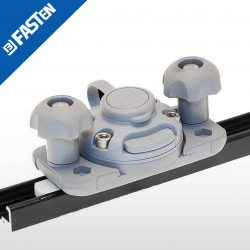"Base BORIKA Fasten FFR222G GRIS montaje en rail ""C-shaped track"""