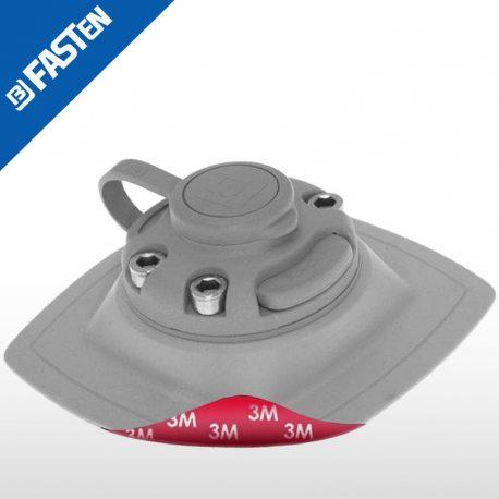 Base BORIKA Fasten FMS224B NEGRO AUTOADHESIVO 110X110mm