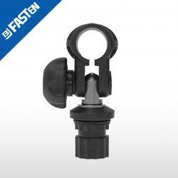 Abrazadera articulada negra TC022B BORIKA tubo 22mm