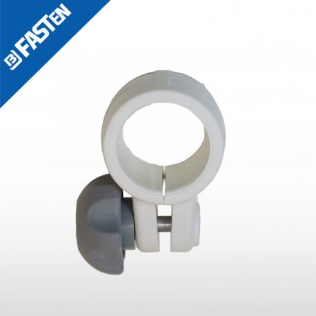 Abazadera blanca CN032W BORIKA tubo 32mm
