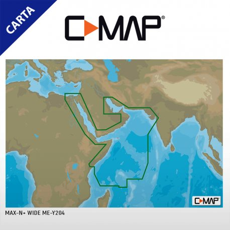 Cartografía C-MAP MAX-N+ Continental ME-Y204 Red Sea To Gulf & Seychelles Is
