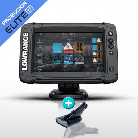 Sonda GPS Plotter Lowrance Elite 7 Ti2 con Transductor HDI50/200 600w. CHIRP/DownScan
