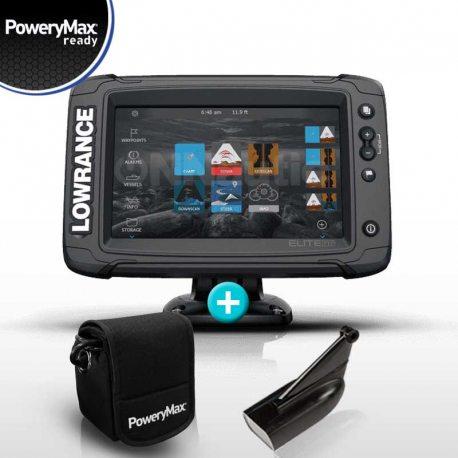 Sonda GPS Plotter Lowrance Elite 7 Ti2 PoweryMax Ready con Trasnductor HDI 83/200 DownScan