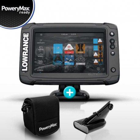 Sonda GPS Plotter Lowrance Elite 7 Ti2 PoweryMax Ready con Transductor HDI 50/200 600W