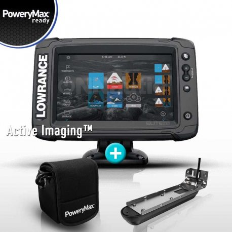 Sonda GPS Plotter Lowrance Elite 7 Ti2 PoweryMax Ready con Transductor Active Imaging 3 in 1