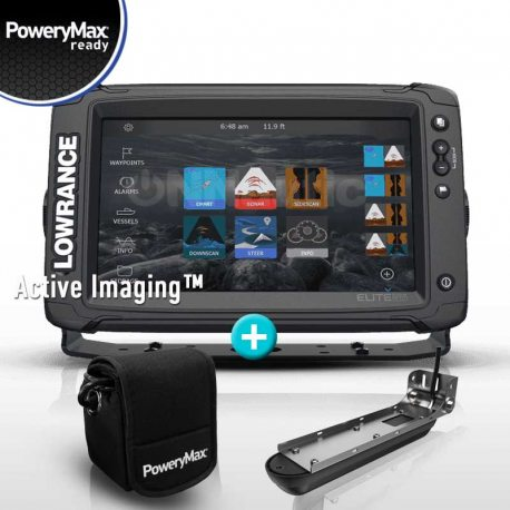 Lowrance Elite 9 Ti2 PoweryMax Ready con Transductor Active Imaging 3 en 1