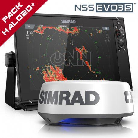 Pack Simrad NSS12 EVO3S + Radar Halo20+