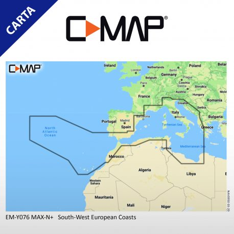 C-MAP DISCOVER M-EM-Y076-MS South-West European Coasts