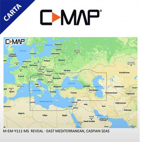C-MAP REVEAL M-EM-Y111-MS East Mediterranean, Caspian Seas