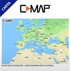 C-MAP DISCOVER M-EM-Y202-MS Mediterranean South Central