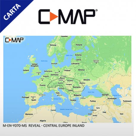 C-MAP REVEAL M-EN-Y070-MS Central Europe Inland