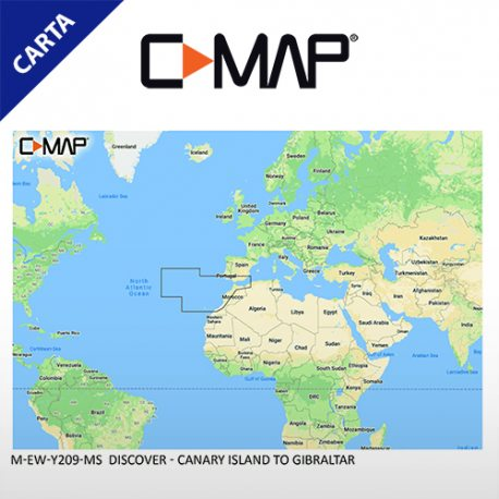 C-MAP DISCOVER M-EW-Y209-MS Canary Island to Gibraltar