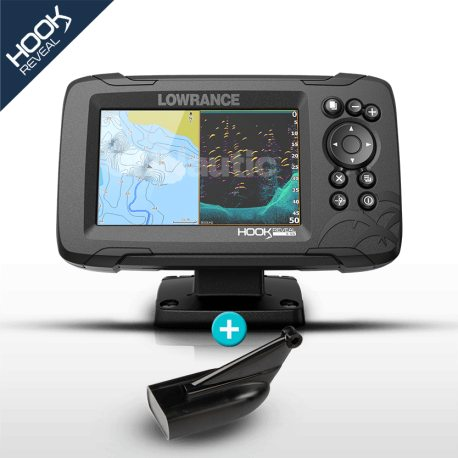 Lowrance HOOK Reveal 5 HDI con transductor 83/200 300w con DownScan