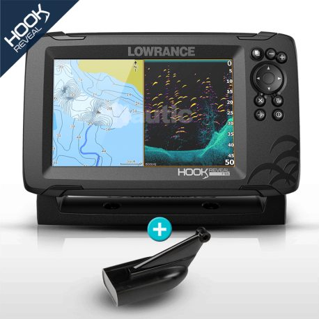 Lowrance HOOK Reveal 7 HDI con transductor 83/200 300w con DownScan