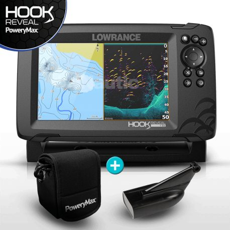 Lowrance HOOK Reveal 7 PoweryMax Ready con Transductor HDI 83/200 Downscan