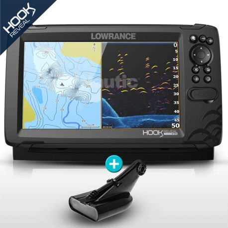 Lowrance HOOK Reveal 9 HDI con transductor 50/200 600w con DownScan