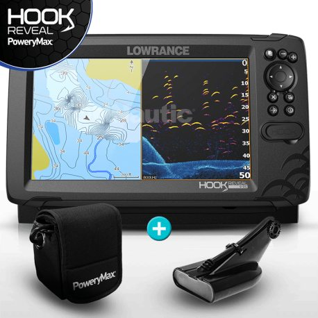Lowrance HOOK Reveal 9 PoweryMax Ready con Transductor HDI 50/200 DownScan