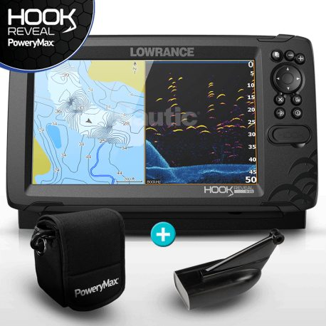 Lowrance HOOK Reveal 9 PoweryMax Ready con Transductor HDI 83/200 Downscan