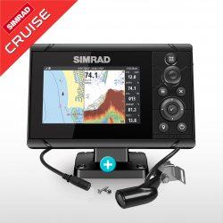Sonda GPS Plotter Simrad Cruise 5 con transductor 83/200 kHz
